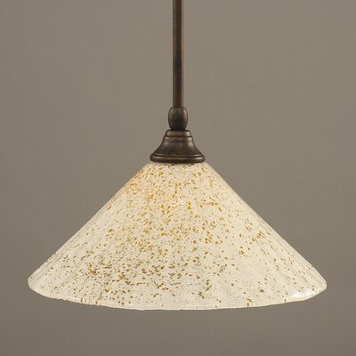 Stem Mini Pendant With Hang Straight Swivel Finish: Bronze