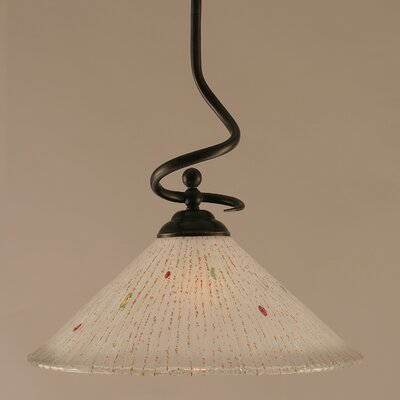 Capri Stem Pendant With Hang Straight Swivel Shade Color: Frosted