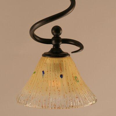 Capri Stem Mini Pendant With Hang Straight Swivel Shade Color: Amber