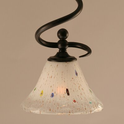 Capri Stem Mini Pendant With Hang Straight Swivel Shade Color: Frosted