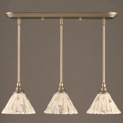 3-Light Multi Light Mini Pendant With Hang Straight Swivels Finish: Brushed Nickel