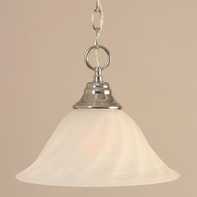 1-Light Downlight Pendant Finish: Chrome