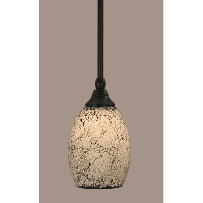 Stem 1-Light Mini Pendant Shade Color: Black, Size: 8.75 H x 5 W