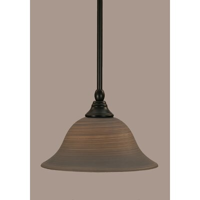 Stem 1-Light Mini Pendant Shade Color: Gray, Size: 6.25 H x 10 W