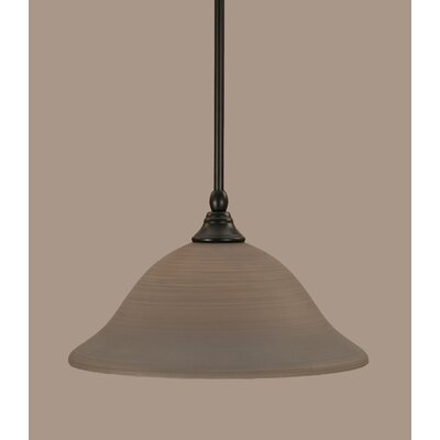 Stem 1-Light Mini Pendant Shade Color: Gray, Size: 7.5 H x 12 W