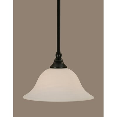 Stem 1-Light Mini Pendant Size: 6.25 H x 10 W, Shade Color: White