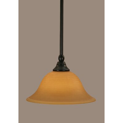 Stem 1-Light Mini Pendant Shade Color: Cayenne, Size: 6.25 H x 10 W