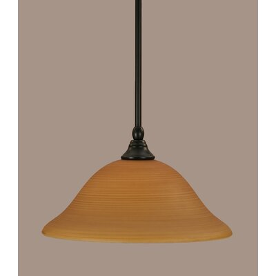 Stem 1-Light Mini Pendant Shade Color: Cayenne, Size: 7.5 H x 12 W
