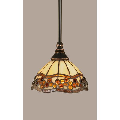 1-Light Stem Mini Pendant With Hang Straight Swivel Finish: Black Copper