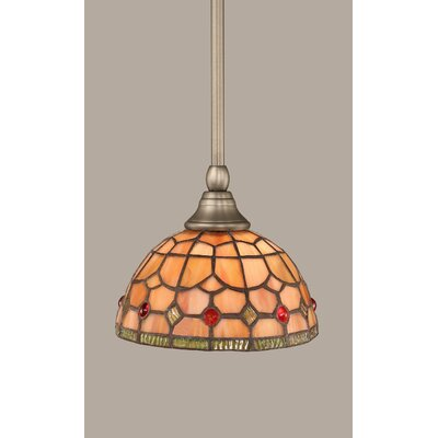 1-Light Stem Mini Pendant With Hang Straight Swivel Finish: Brushed Nickel