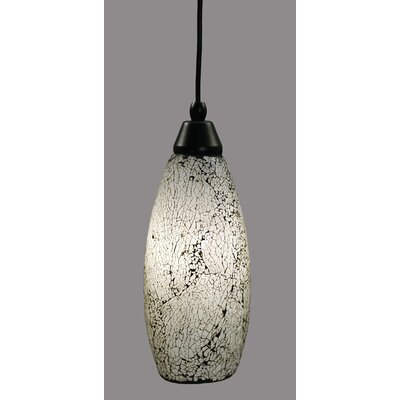 1-Light Mini Pendant Shade Color: Black, Size: 13.75 H x 5 W, Finish: Matte Black