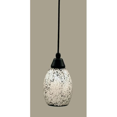 1-Light Mini Pendant Shade Color: Black, Size: 8.75 H x 5 W, Finish: Matte Black