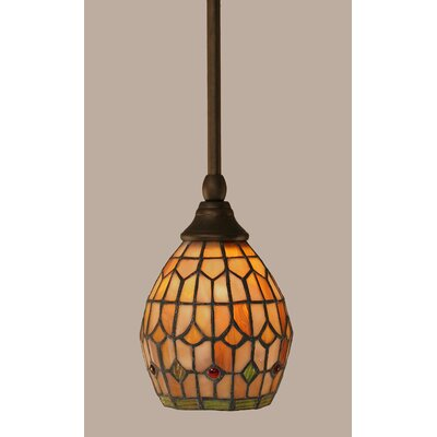 1-Light Stem Mini Pendant With Hang Straight Swivel Finish: Bronze
