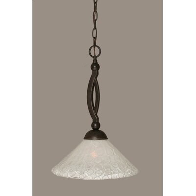 Eisenhauer 1-Light Dark Granite Pendant