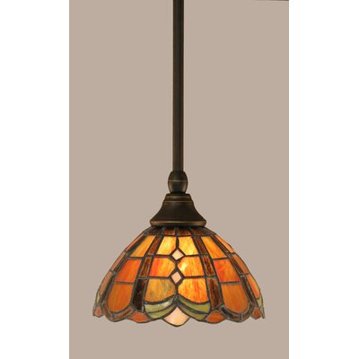 1-Light Stem Mini Pendant With Hang Straight Swivel Finish: Dark Granite