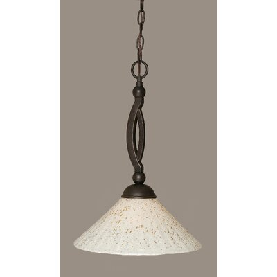 Blankenship 1-Light Dark Granite Pendant