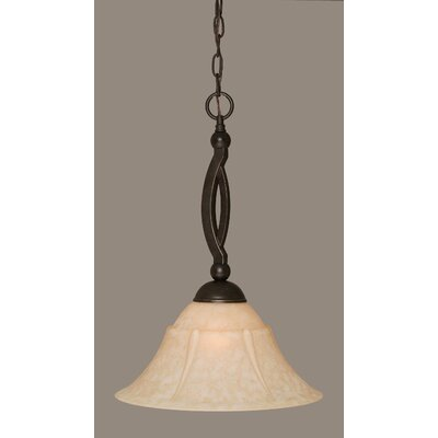 Blankenship 1-Light Metal Pendant Shade Color: Italian, Size: 14