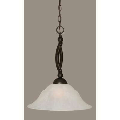 Blankenship 1-Light Metal Pendant Shade Color: White, Size: 16