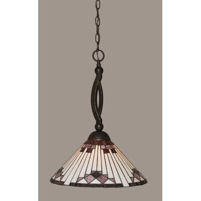 Essonnes 1-Light Dark Granite Pendant Shade Color: Purple