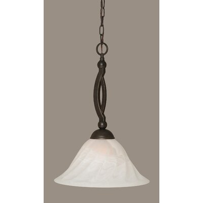 Blankenship 1-Light 150W Metal Pendant