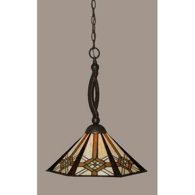 Essonnes 1-Light Glass Shade Pendant