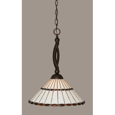 Austinburg Contemporary 1-Light Pendant Shade Color: Honey Glass and Amber Jewels