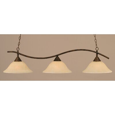 Swoop 3-Light Kitchen Island Pendant Shade Color: Amber
