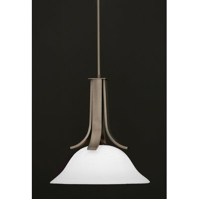 Apollo 1-Light Pendant With Hang Straight Swivel