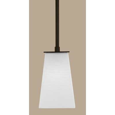 Apollo 1-Light Stem Mini Pendant With Hang Straight Swivel Finish: Dark Granite