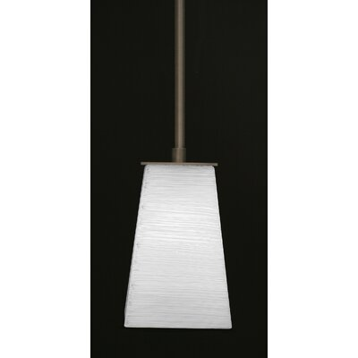 Apollo 1-Light Stem Mini Pendant With Hang Straight Swivel Finish: Graphite