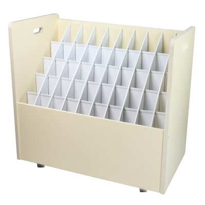 Mobile Wood Roll File Filing Cart