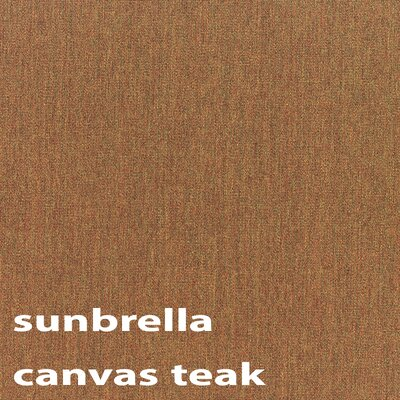 9' Deluxe Market Umbrella Finish: Sunbrella Canvas Teak A8680-10-B5488