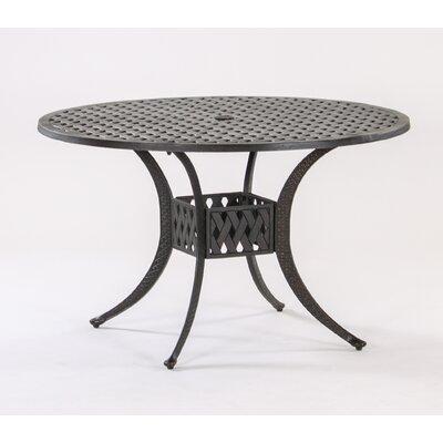 Basket Weave Round Cast Aluminum Bistro Table Table Size: 48 L x 48 W