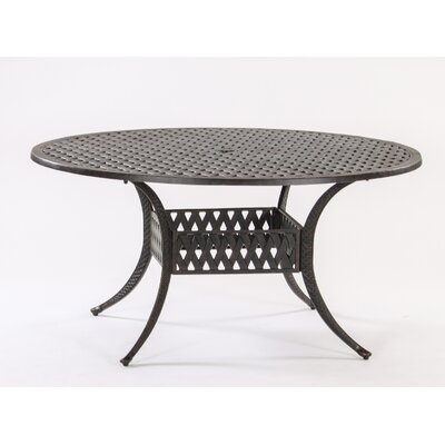 Basket Weave Round Cast Aluminum Bistro Table Table Size: 60
