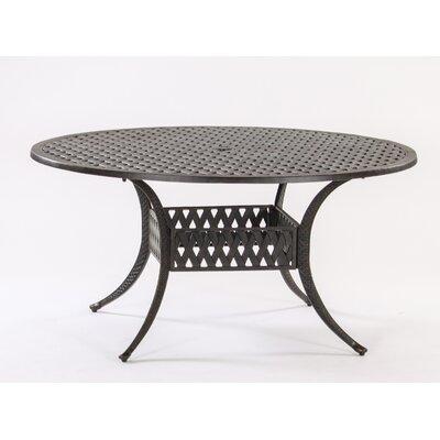 Basket Weave Round Cast Aluminum Bistro Table Table Size: 60 L x 48 W