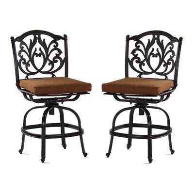 Kingston 23 Bar Stool with Cushion Upholstery Type: Sunbrella - Teak