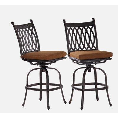 Newport 29 Bar Stool with Cushion Upholstery Type: Sunbrella - Teak