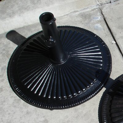Free Standing Aluminum Shell Umbrella Base Finish: Black