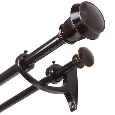Umbra Bellair Double Curtain Rod and Hardware Set 244912-758-REM