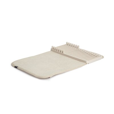Udry Mini Dish Rack and Drying Mat Finish: Linen