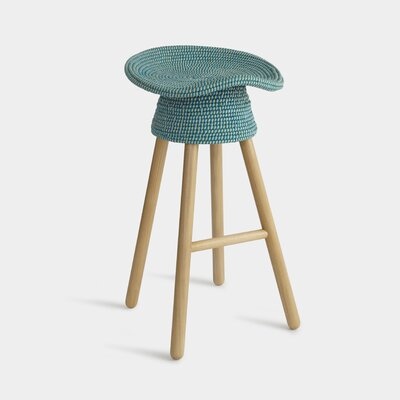 29 inch Bar Stool Finish: Aqua