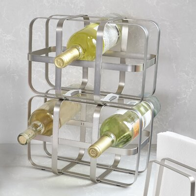 Pulse 6 Bottle Table Top Wine Bottle Rack Finish: Nickel