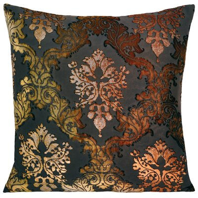 Brocade Velvet Pillow Color: Copper Ivy, Size: 20 H x 20 W x 4 D