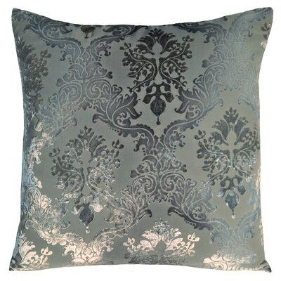 Brocade Velvet Throw Pillow Color: Dusk