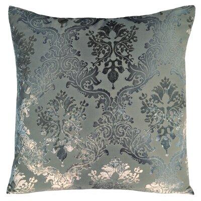 Brocade Velvet Pillow Color: Dusk, Size: 20 H x 20 W x 4 D