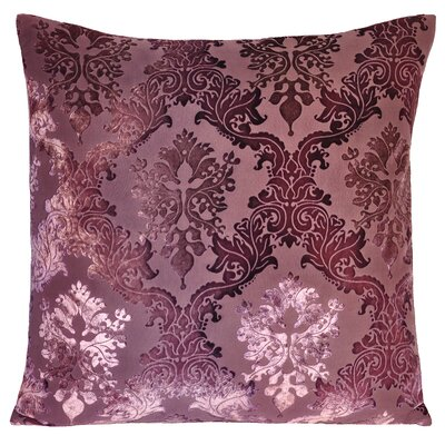 Brocade Velvet Pillow Color: Mauve, Size: 20 H x 20 W x 4 D