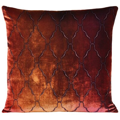 Arches Velvet Pillow Color: Wildberry, Size: 22 H x 22 W x 3 D