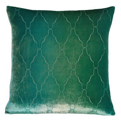 Arches Velvet Throw Pillow Color: Emerald