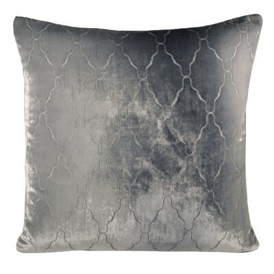 Arches Velvet Throw Pillow Color: Silver