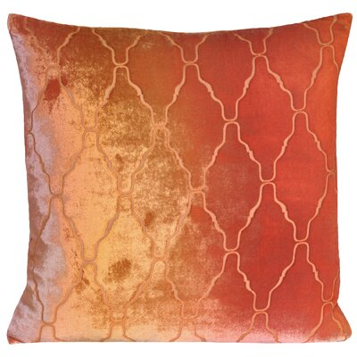 Arches Velvet Throw Pillow Color: Pink Gold